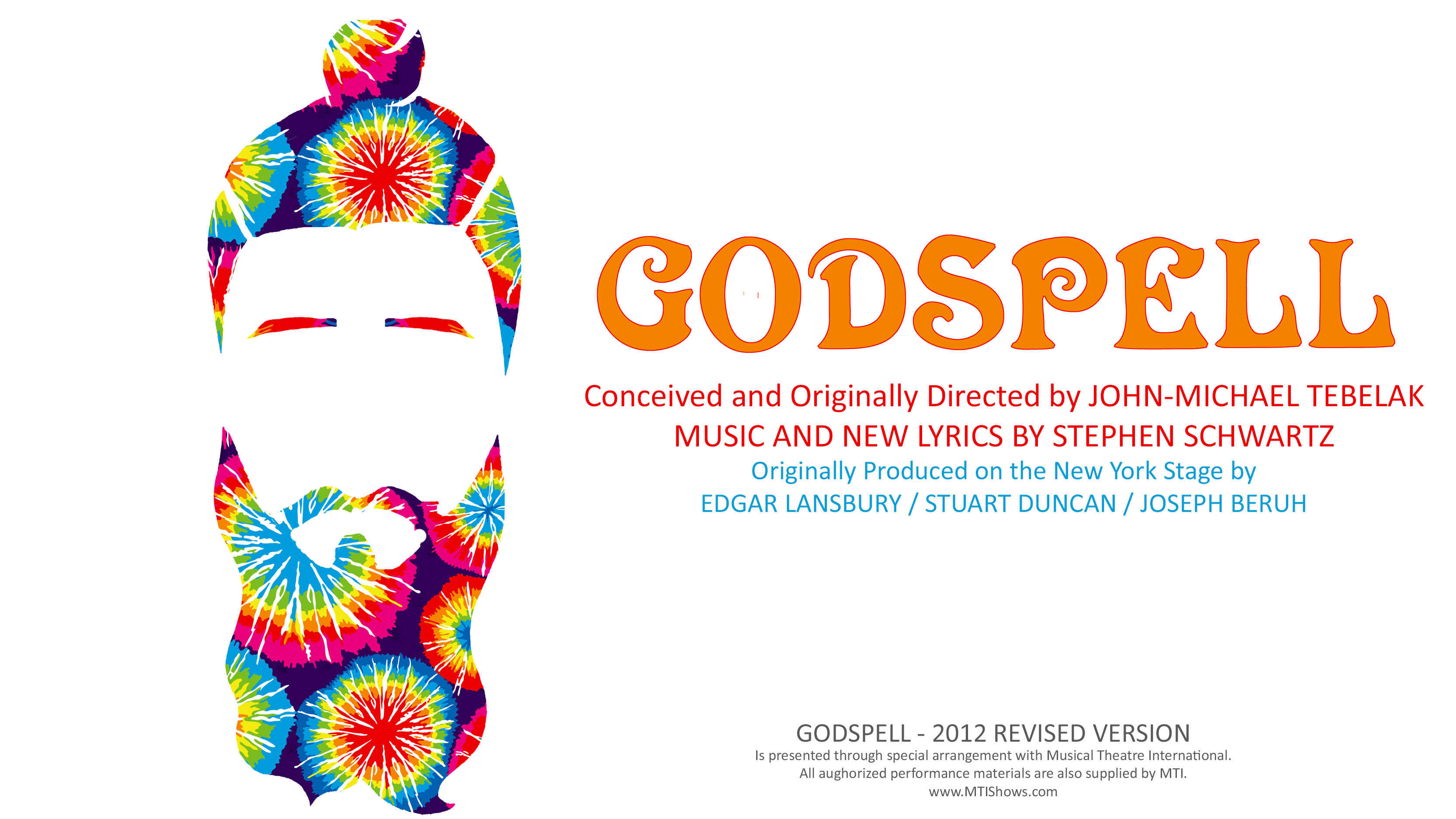 Godspell slide with credits
